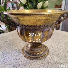 Antigüedades: COPAS LATÓN. Lote 293752778