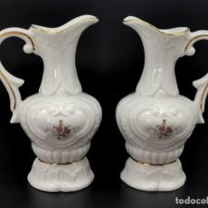 Antigüedades: PAREJA DE JARRONES PEYMA, ARTE EN PORCELANA. 19 CM.. Lote 293774043