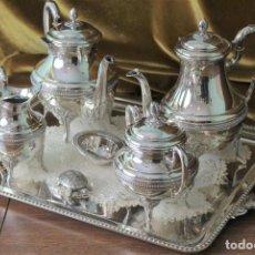 Antigüedades: SERVICIO DE CAFÉ O TÉ. ALPACA. EXCELENTE ESTADO. 7 PIEZAS.. Lote 293793183