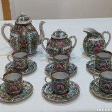 Antigüedades: IMPRESIONANTE JUEGO DE CAFÉ ANTIGUO CHINO MACAU. Lote 293885413