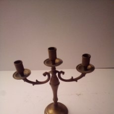 Antigüedades: CANDELABRO 3 BRACCI IN OTTONE. Lote 293894683
