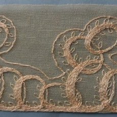 Antigüedades: ANTIGUO ENCAJE TAMBOR ART DECO PPIO.S.XX. Lote 293898218