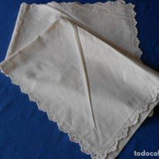 Antigüedades: PRECIOSA FUNDA COJIN /ALMOHADA ANTIQUA.ALGODON 100% BLANCO 70 X 75 CM. USADO EN BUEN ESTADO. Lote 293935843