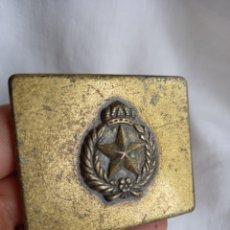Antigüedades: HEBILLA CON ESTRELLA 5 PUNTAS CORONA Y LAUREL. Lote 294022768