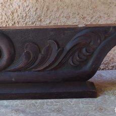 Antigüedades: PAREJA DE PATAS. PIES DE MADERA TALLADA. CAMA, ARMARIO, MUEBLE.. Lote 294049863