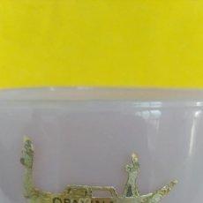 Antigüedades: GRAN COPA DE OPALINA VIOLETA Y BLANCA EN CRISTAL SOPLADO. VENECIA AÑOS 59.. Lote 294104838