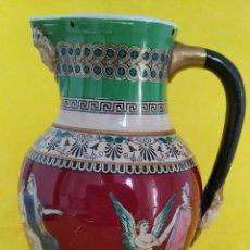 Antigüedades: PIEZA DE COLECCIÓN, JARRA DE PORCELANA DE MINTON NEOCLASSICAL CALCO Y PINTADA A MANO. ENGLAND 1800.. Lote 294105123