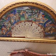 Antigüedades: ABANICO ORIENTAL DE LAS MIL CARAS. Lote 294113268