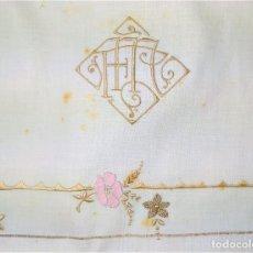 Antigüedades: JUEGO DE CAMA DE MATRIMONIO. SIN USO. ALGODÓN BORDADO A MANO. ESPAÑA. CIRCA 1930. Lote 294380318