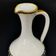 Antigüedades: BONITO JARRONCITO DE CERÁMICA VIDRIADA, SELLADO. 18 CM.. Lote 294460868