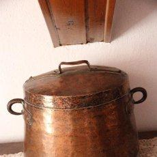 Antigüedades: CAZUELA ANTIGUA DE COBRE. Lote 294500538
