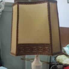Antigüedades: LAMPARA DE ALABASTRO 53 CMS. Lote 294807273