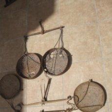 Antigüedades: ANTIGUO LOTE DE BALANZAS. Lote 294818208