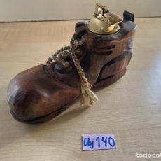 Antigüedades: MECHERO ZAPATO DECORATIVO. Lote 294831723