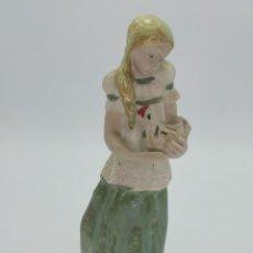 Antigüedades: ORIGINAL FIGURA DE PORCELANA RAMÓN INGLÉS, VALENCIA. 25 CM.. Lote 294838038