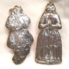 Antigüedades: EX VOTOS S XIX. MED. 14 Y 13 CM ALTURA. Lote 294841293