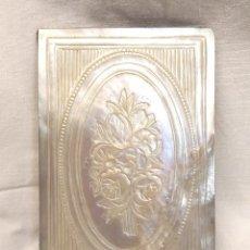 Antigüedades: AGENDA LIBRETA BAILE S XIX NACAR. MED. 6,20 X 9,50 CM. Lote 294842408