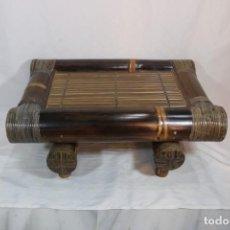 Antigüedades: AUTÉNTICA MESA DE BAMBÚ FABRICADA EN BALI - AÑOS 70S. Lote 294856008