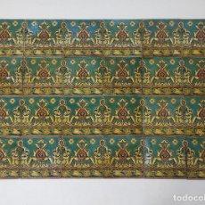 Antigüedades: LOTE DE 24 AZULEJOS MODERNISTAS - CARTÓN PIEDRA - SELLO LABOR - VERITAS CHARITAS, Nº 39. Lote 294938063