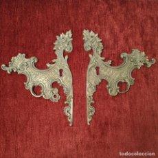 Antigüedades: PAREJA BOCALLAVES DE BRONCE. Lote 294938153