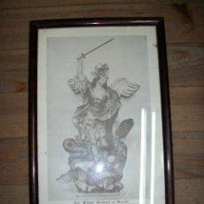 Antigüedades: ANTIGUO CUADRO DE SAN MIGUEL ARCANGEL. Lote 294938933