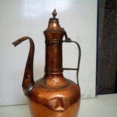 Antigüedades: TETERA MARROQUÍ DE COBRE. Lote 294975143