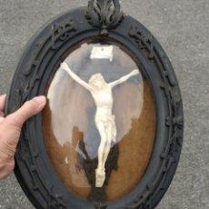 Antigüedades: IMPRESIONANTE CORPUS CHRISTI CON MARCO OVALADO, 1820. Lote 295001778