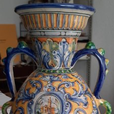 Antigüedades: JARRÓN CERAMICATALAVERA. SANTOS TIMONEDA. Lote 295295088