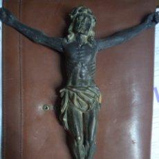 Oggetti Antichi: ANTIGUA TALLA DE MADERA DE CRISTO. Lote 295297523