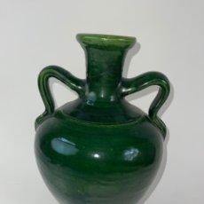 Antigüedades: CANTARO DE CERAMICA ESMALTADA CON ASAS. S.XX.. Lote 295312613