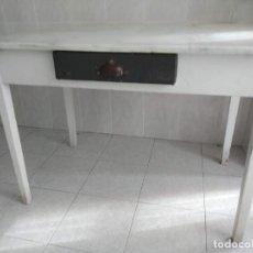 Antigüedades: MESA COCINA ENCIMERA MARMOL. Lote 295346518