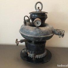 Antiquités: ANTIGUA LAMPARA TIPO PETROMAX - MARCA ESTELAR BARCO. FAROL PETROLEO?. Lote 295423268