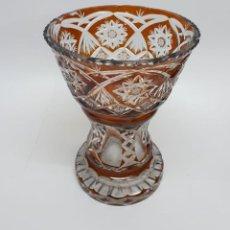 Antigüedades: EXTRAORDINARIO CENTRO DE MESA EN CRISTAL DE BOHEMIA. Lote 295436163