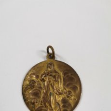 Antigüedades: M-1803. MEDALLA DE BRONCE DE LA VIRGEN. FINALES S.XIX.. Lote 295488048