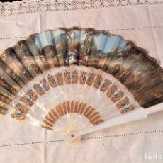 Antigüedades: ABANICO NACARADO. Lote 295629623