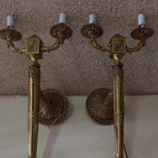 Antigüedades: PAREJA DE APLIQUES EN BRONCE ‐ ALTA COLECCION. Lote 295692813