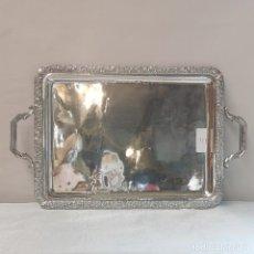 Antigüedades: BANDEJA DE ALPACA CON ASAS. Lote 295696838