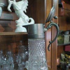 Antigüedades: JARRA CRISTAL ANTIGUA. Lote 295732743