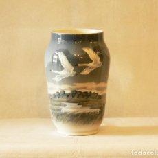 Antigüedades: JARRON DE PORCELANA ROYAL COPENHAGEN AÑOS 70. Lote 295809518