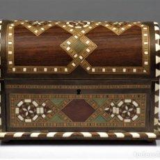 Antigüedades: CAJA JOYERO DE TARACEA. GRANADA. AÑOS 40. Lote 295815933