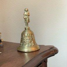 Antigüedades: CAMPANA DE BRONCE PARA MESA. Lote 295818193