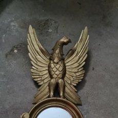 Antigüedades: ESPEJO DE MADERA ANTIGUO. Lote 295834183