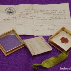 Antigüedades: RELIQUIA DOCUMENTADA DE SANTA TERESITA DEL NIÑO JESÚS. AÑO DE 1931.. Lote 295865363