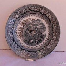 Antigüedades: PLATO DE PORCELANA DE SARGADELOS SIGLO XIX VISTAS. Lote 295894238