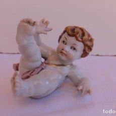 Antigüedades: ANGEL DE PORCELANA DE ALGORA. Lote 295894688