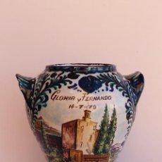 Antigüedades: ORZA GRANDE DE CERAMICA DE FAJALAUZA. Lote 295895128