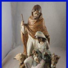 Antigüedades: FANTASTICA FIGURA DE GRES DE LLADRO NACIMIENTO DE JESUS CON CAJA ORIGINAL. Lote 295898878