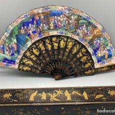 Antigüedades: ABANICO DE LAS MIL CARAS CHINA SIGLO XIX. Lote 295979438