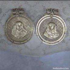 Antigüedades: PAREJA DE IMÁGENES ANTIGUAS. Lote 296618008