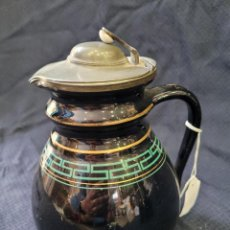 Antigüedades: CAFETERA ESMALTADA NEGRA. Lote 296791023
